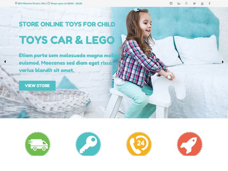 Kid Toy is Free WordPress Theme which is planned to Toys Stores to offer children toys or infant toys through an expert online store. Kid Toys WordPress Theme convey euphoria...