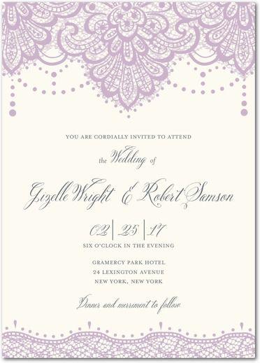 Oltre 25 Fantastiche Idee Su Diy Lace Wedding Invitations Pinterest