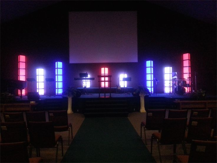Church Stage Design Using Air Filters