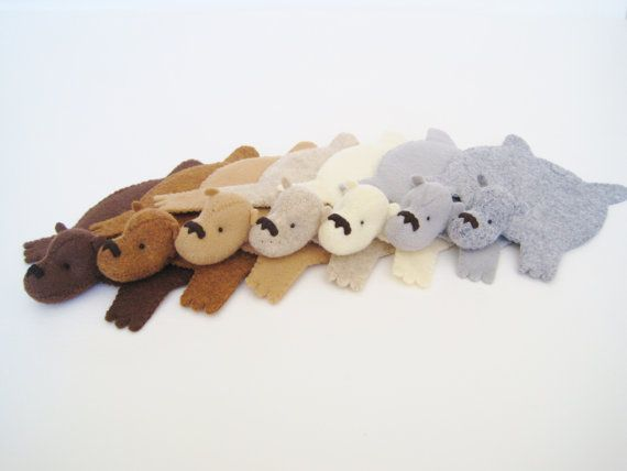 Etsy の Bear Rug Coaster Set of Four by dandyrions