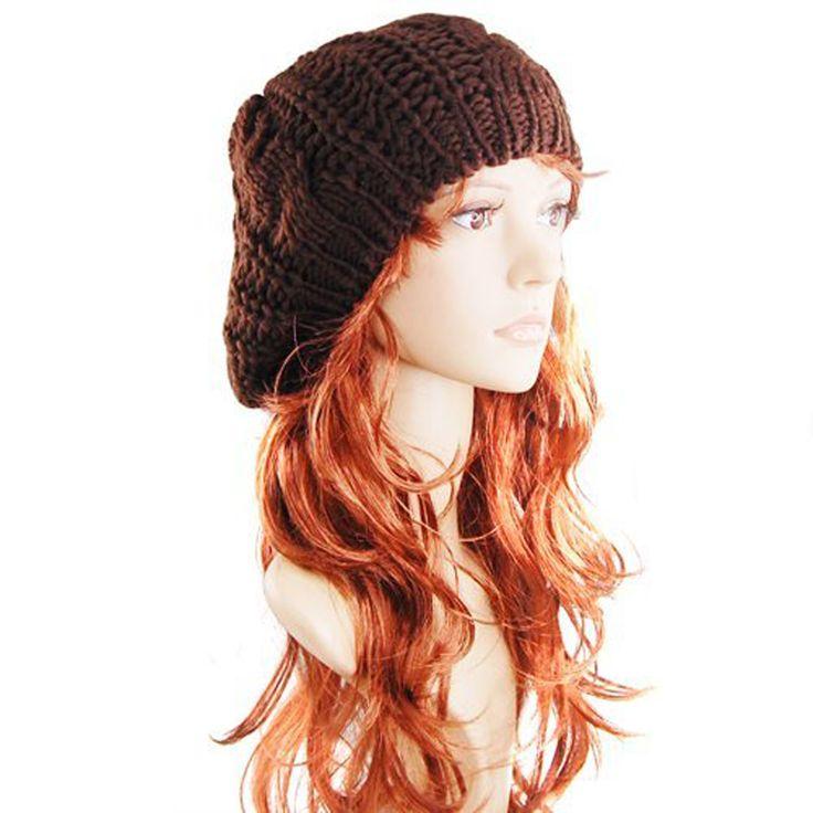 2.19$ (More info here: http://www.daitingtoday.com/hot-sale-coffee-fashion-lady-s-warm-knit-beret-ski-cap-baggy-beanie-crochet-women-hat ) HOT SALE!Coffee Fashion Lady's Warm Knit Beret Ski Cap Baggy Beanie Crochet women Hat for just 2.19$