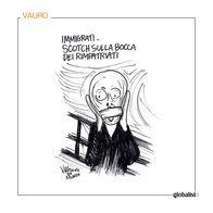 Migranti imbavagliati by Vauro