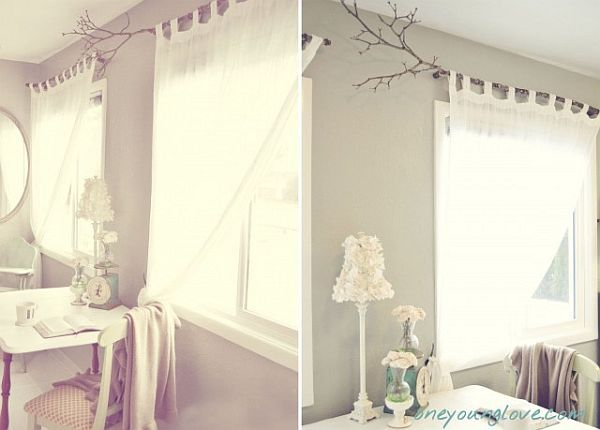 DIY Curtain- tree branches