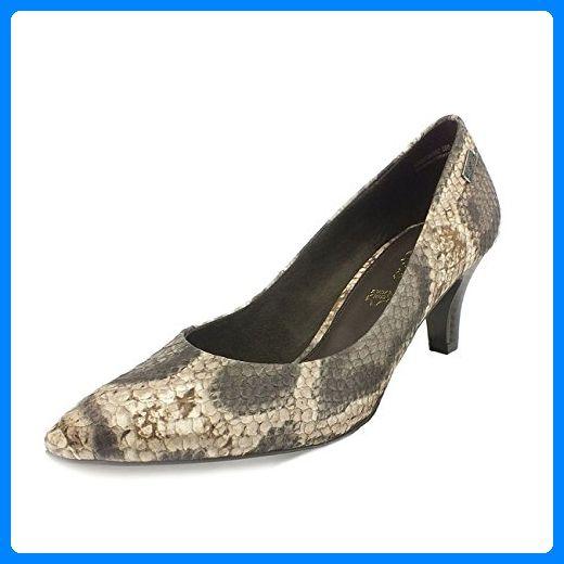 s.OLIVER Damen Pumps, Snake / Reptilprint, Decksohle Leder, beige, Größe:36 - Damen pumps (*Partner-Link)