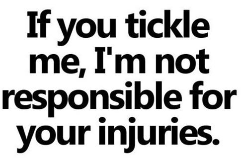 Yeah ... I don't handle that well. I've been known to gain super-human strength and throw someone trying to tickle me across the room.