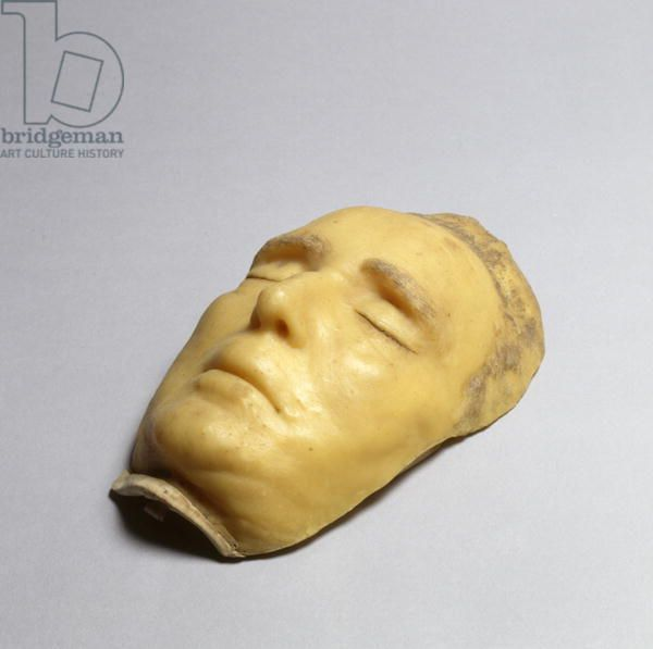 Death Mask of Frederick II, Landgrave of Hesse-Cassel, 1785 (wax & hair)
