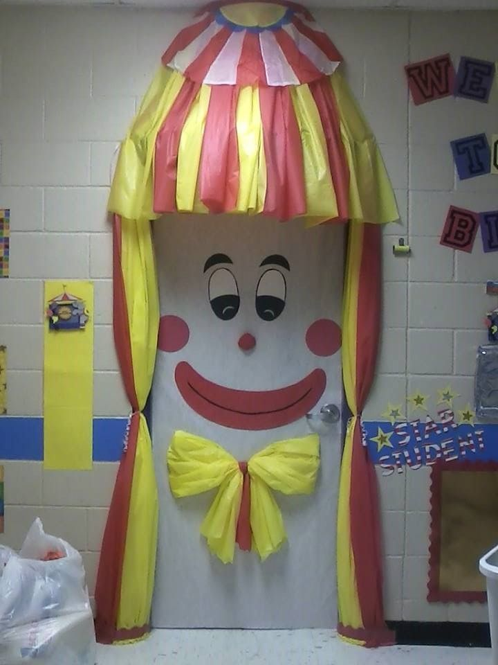 Circus Classroom Decoration Ideas : Clown door classroom decoration pinterest