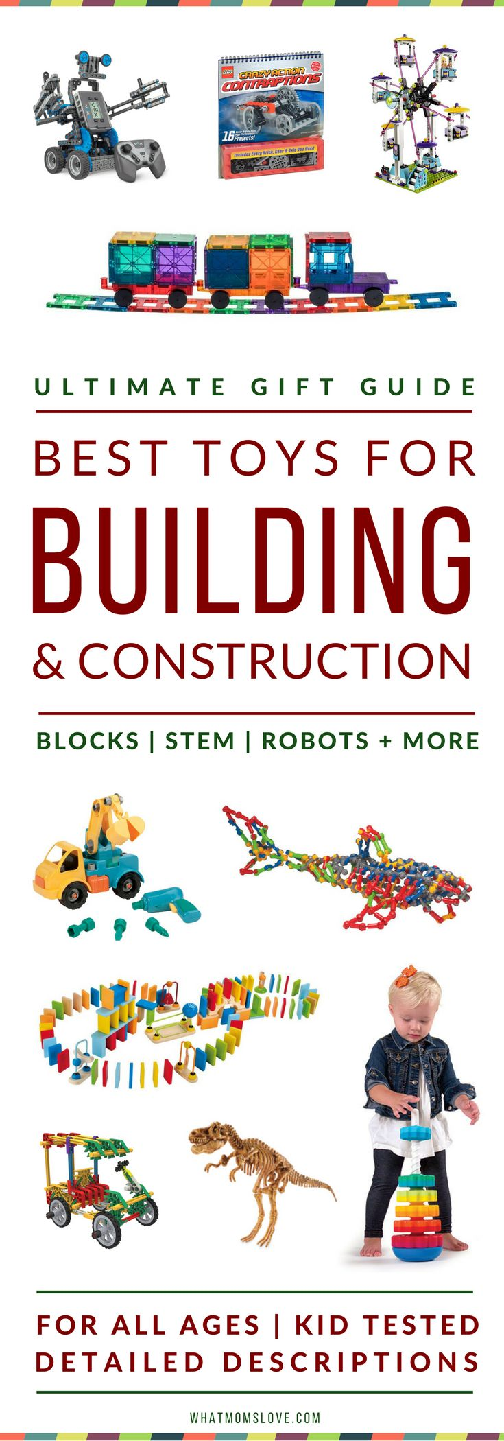 Best Building Toys For Kids | Gift Ideas For Kids Who Love To Build & Construct | Best STEM Toys | Best Wooden Toys | Best Blocks For Toddlers, Pre-Schoolers | Best Robotic Kits for Tweens + Teens | From The What Moms Love Ultimate Toy Gift Guide