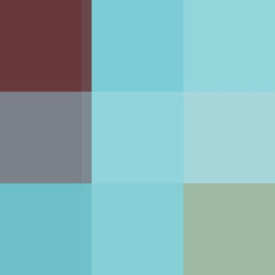 COLOR BLOCK Teal Burgundy Artistic Inspiration