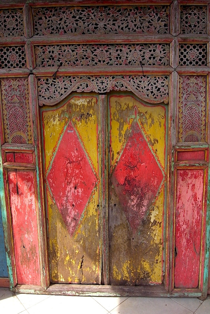 Antique Teak Doors photographed in Bali - most likely from Java or Madura, Indonesia