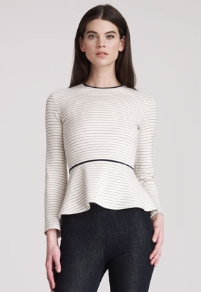 striped peplum top by The Row for fall