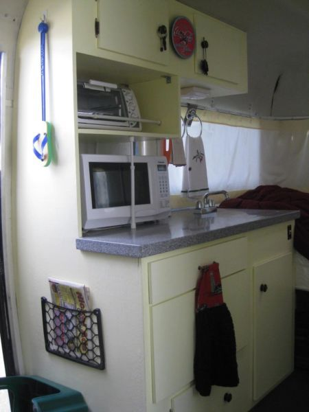 Cream And Red 17 Ft Boler Kitchen Travel Trailers