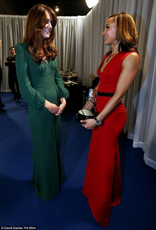 Daily Mail-The Duchess of Cambridge and Jessica Ennis, Gold medalist in the 2012 Olympic Women's Heptathlon, backstage at the BBC Sports Personality of the Year Awards