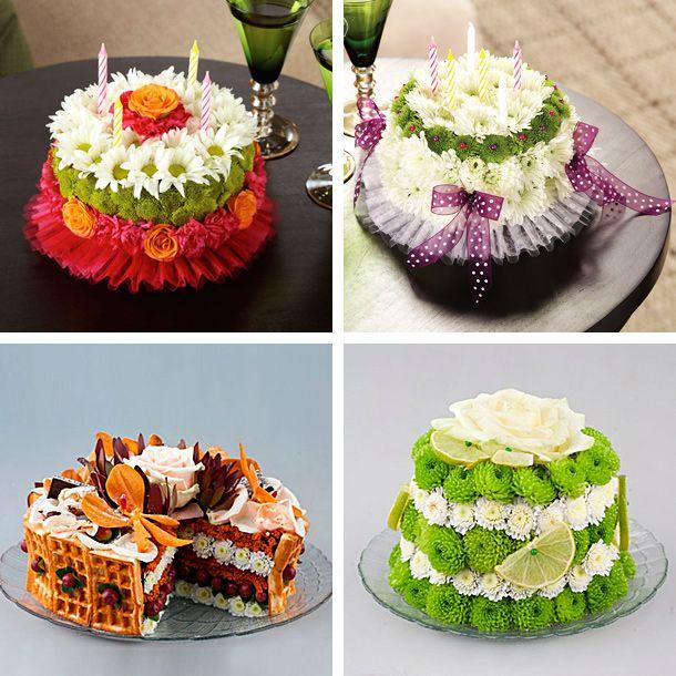 Вы хотите удивить своих близких и коллег? Подарите цветочный торт!