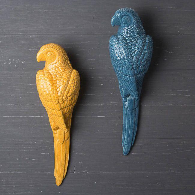 figuras loros amarillo y azul