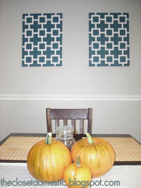 The Closet Domestic: diy art: geometric painting