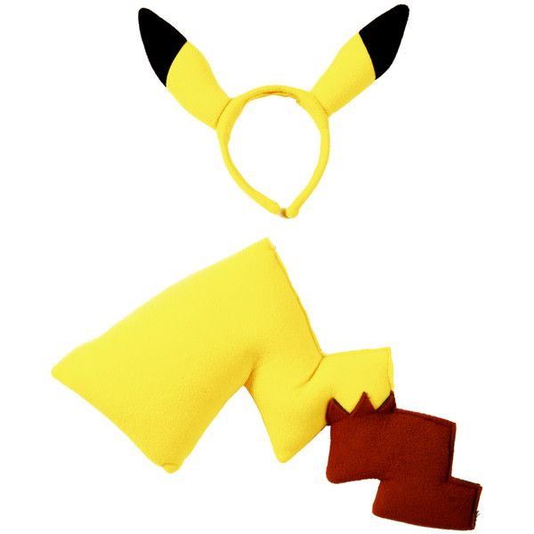 Pokemon Pikachu Tail And Ears Costume Kit | Hot Topic ($8.48) ❤ liked on Polyvore featuring costumes, accessories, other, pikachu, pokemon, tail costume, pikachu costume, pokemon costumes, pokemon halloween costumes and pikachu halloween costume