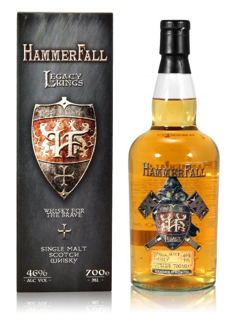 #HammerFall Legacy of Kings 0,7L (46% Vol.) // They did it! Metal Icons created their own #SingleMalt // #Whiskey #RockDrinks // https://www.rock-drinks.de/Whisky/HammerFall-Legacy-of-Kings-07L-46-Vol::2521.html