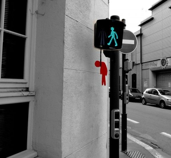 Dead/Red traffic light manikin