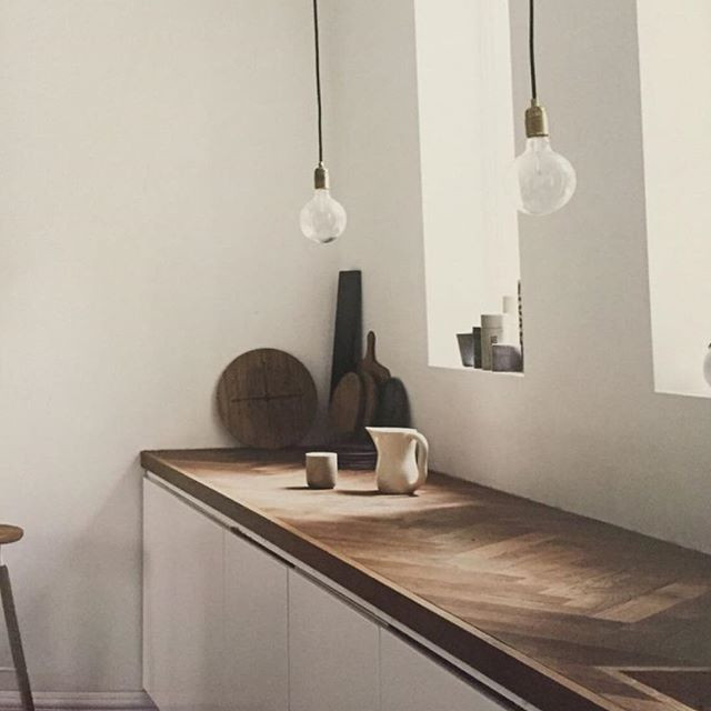 Kinfolk Home #herringbone benchtop counter  Don't forget to check our new website out which we launched this week! #thelocalproject  Kinfolk
