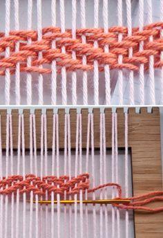 How to: Herringbone Weave Video | The Weaving Loom #weaving #tutorial