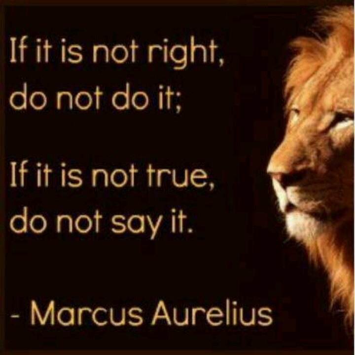 It is very hard to be truthful and do the right thing, it takes powerful…