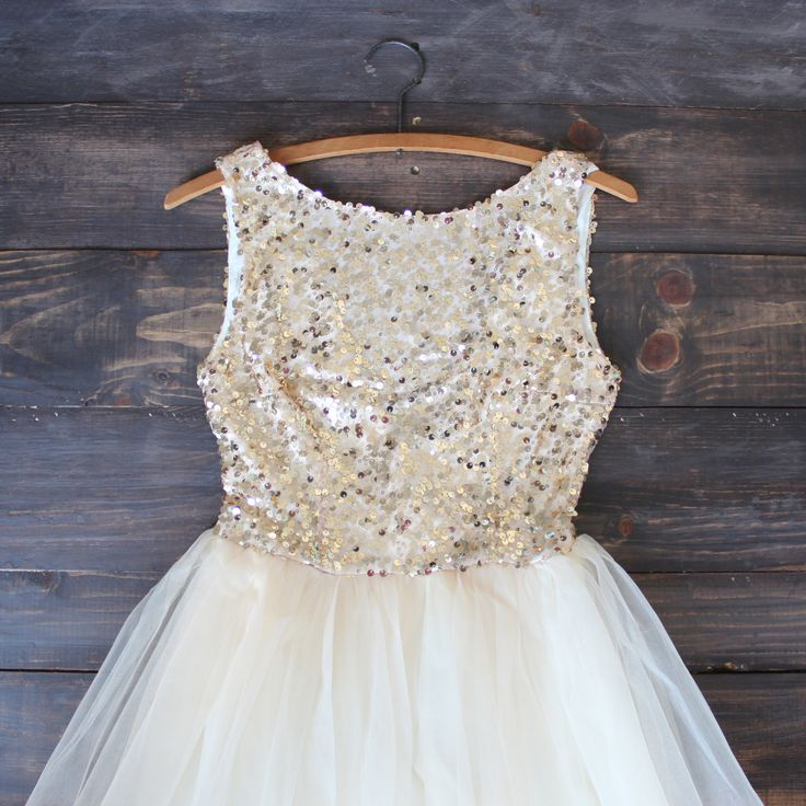 sugar plum gold sequin party dress