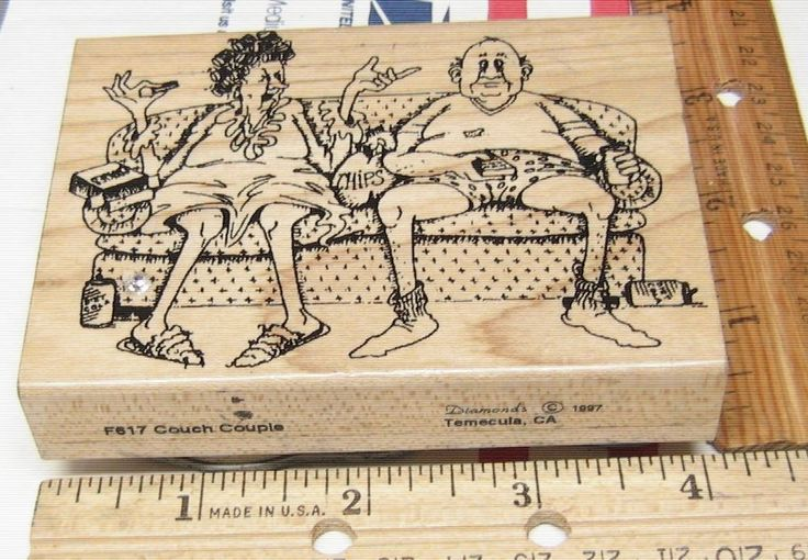COUCH COUPLE BY DIAMONDS FUNNY OLD PEOPLE F617 RUBBER STAMP JASMINESUNSET12 #DIAMONDS #rubberstamp