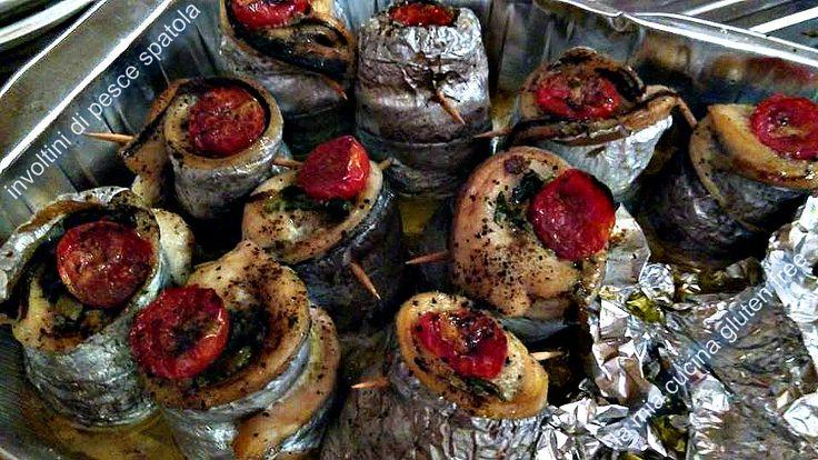 Involtini di pesce spatola al forno