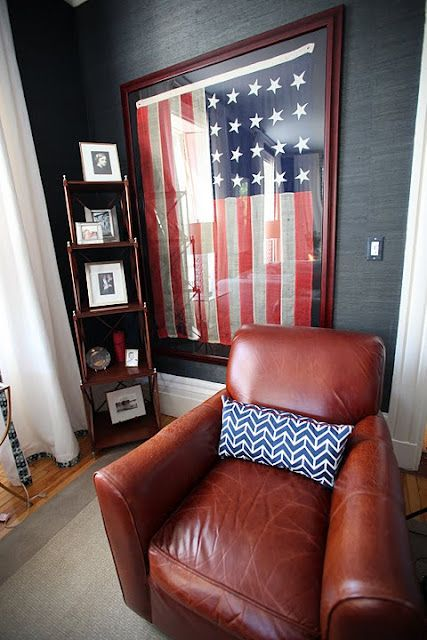 Always nice to have a patriotic/American historic nook in the house... love everything about this room.