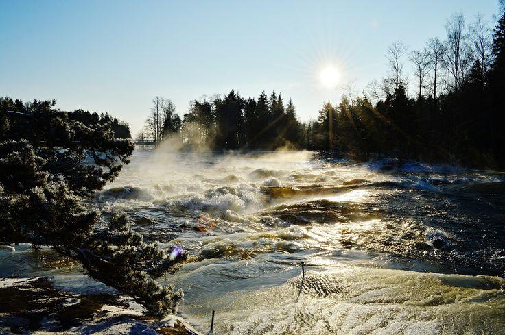 Langinkos, Finland. Beautiful stream and scenery