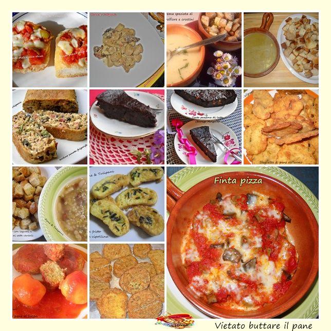 Pane raffermo Vietato buttare il pane. Ecco alcune ricette realizzate con il pane raffermo, non solo semplici ma ottime zuppe...anche golosi piatti.