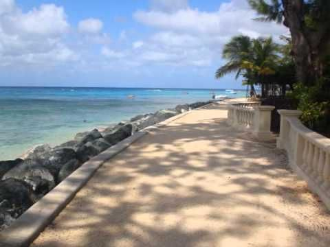 Along the Barbados west coast boardwalk