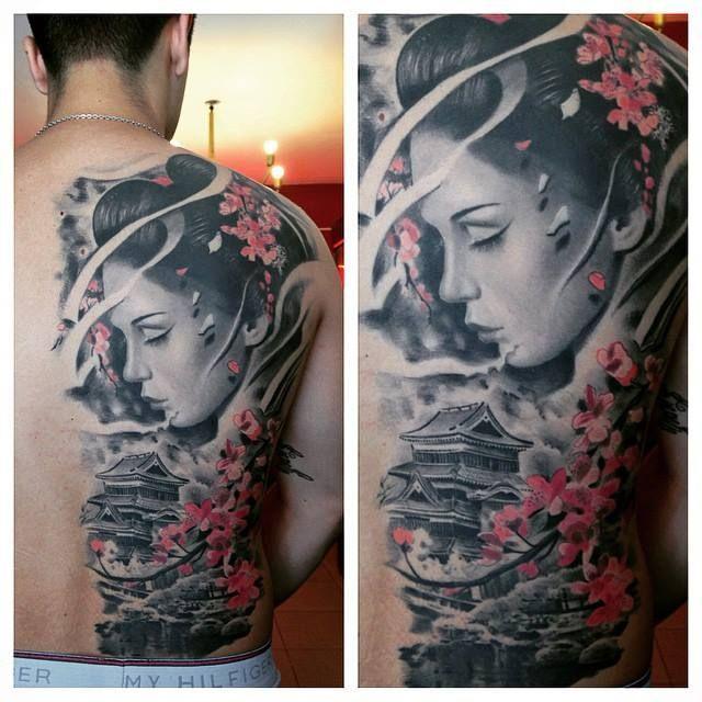 32 best images about tatoo on pinterest temple tattoo japanese geisha tattoo and rib tattoos. Black Bedroom Furniture Sets. Home Design Ideas