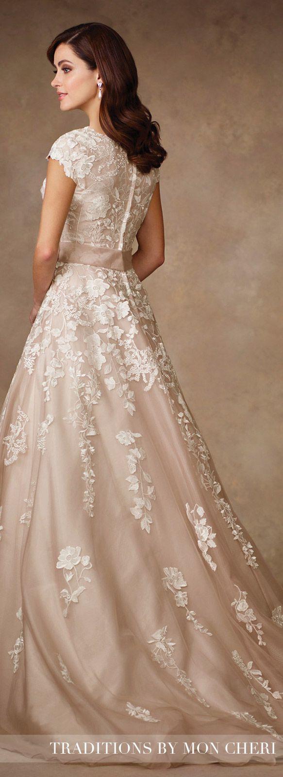 Blush Wedding Dress   Traditions by Mon Cheri