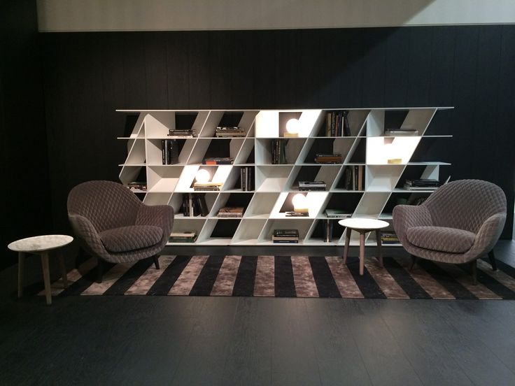 """#Poliform at #immCologne2016 with """"Web"""" bookcase by #DanielLibeskind and the """"Mad"""" chair by #MarcelWanders"""