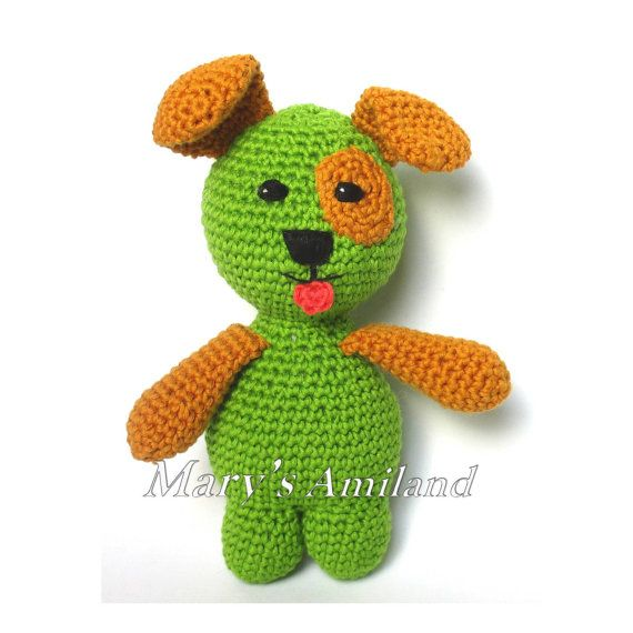 Freddy Puppy The Ami  Amigurumi Crochet Pattern  by MarysAmiland
