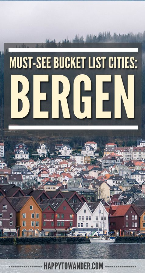 One of the most beautiful cities in Norway - Bergen, surrounded by 7 mountains! <3 #Bergen #Travel