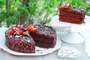 Торт-брауни с ягодным мармеладом «Пралине»