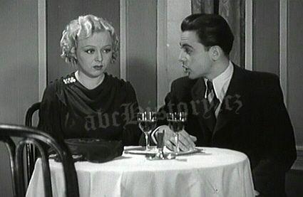Věra Ferbasová a Herbert Lom na snímku z filmu Žena pod křížem z roku 1937