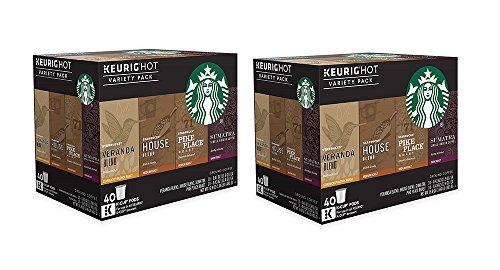 Starbucks Coffee jgDbT Keurig K-Cup Variety Pack, 40 Count (2 Pack)