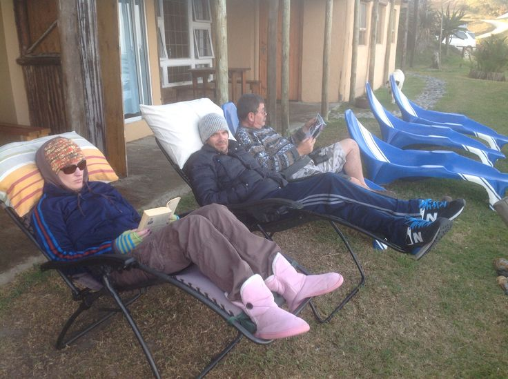 Chilling at White Clay 2014 - it wasn't THAT cold?!........