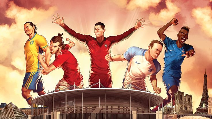 Cool collaboration between ESPN and Marvel ahead of #Euro2016