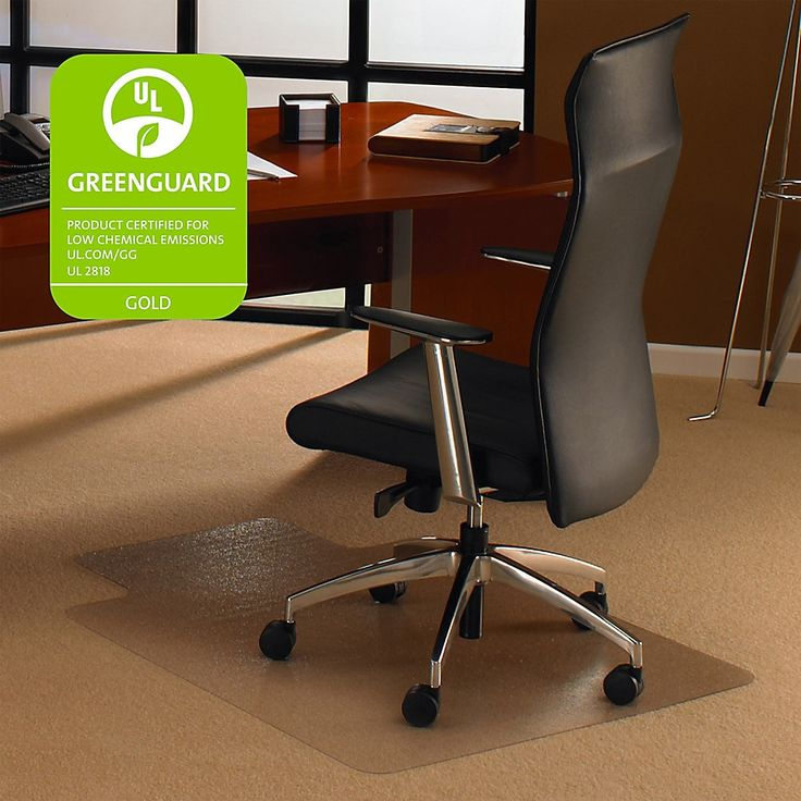 Floortex Polycarbonate Rectangular Chair Mat For DeepPile
