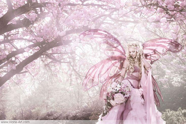 Cherry Blossom FairyCherries Blossoms, Fairies Dresses, Blossoms Queens, Viona Ielegems, Cherries Fairies, Blossoms Fairies, Fairies Art, Fairies Pictures, Cherry Blossoms