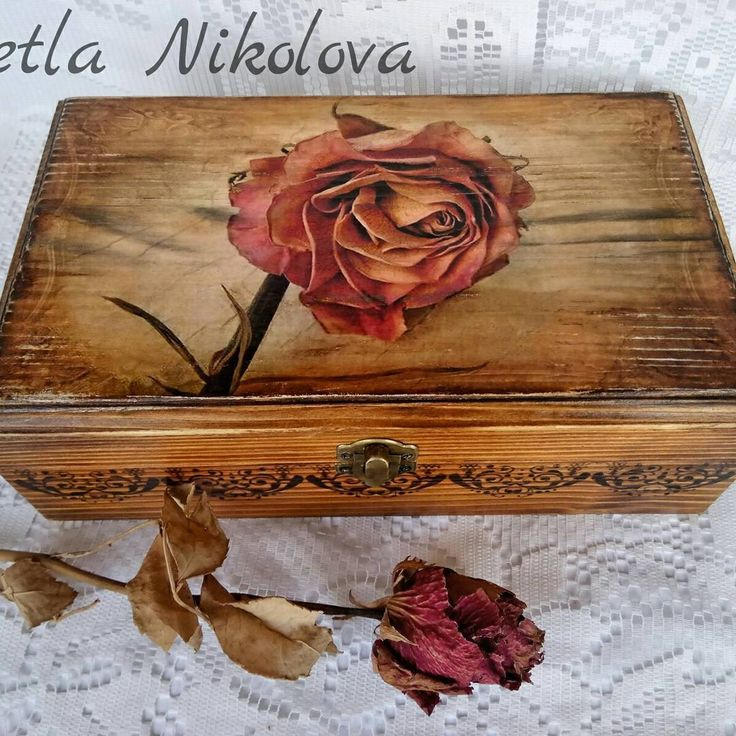 "98 Likes, 1 Comments - Svetla Nikolova (@svetla.nikolova.handmade) on Instagram: ""Box ,,Rose ash"" #handmade #decoration #decor #decoupage  #foryou  #home  #homedecor #gifts #rose…"""
