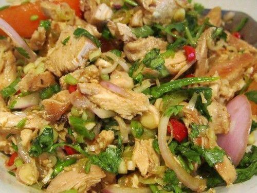 Fűszeres csirkesaláta