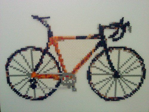 Bike hama perler beads