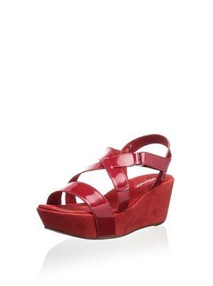 63% OFF Antelope Women's Platform Wedge Sandal (Red)
