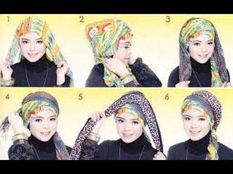 Tutorial Hijab 2015 ~ 2 Hijab Tutorial Turban Populer 2015  ~  Tutorial ...